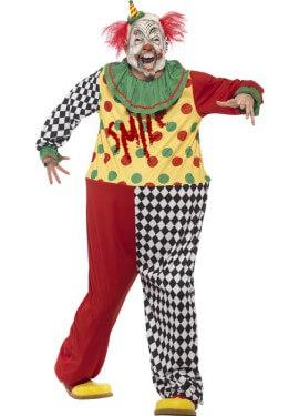Disfraz de Payaso Siniestro Smile para hombre