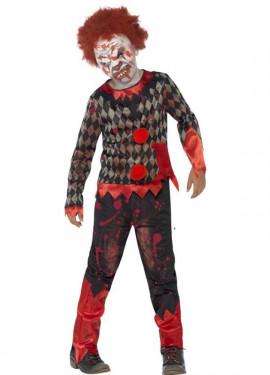 Disfraz de Payaso Zombie con máscara