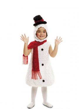 Disfraz de Peluche Muñeco de Nieve para niños