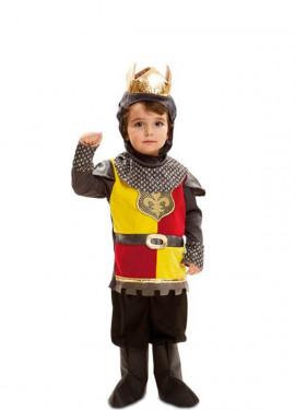Disfraz de Pequeño Rey medieval para niño