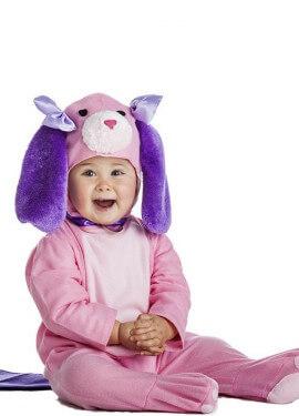 Disfraz de Perro rosa para bebé