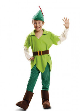 Disfraz de Peter Pan verde para niño