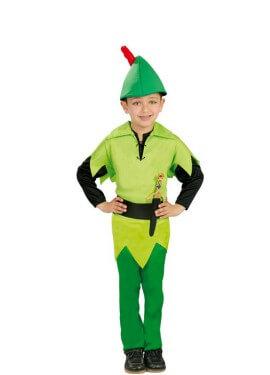 Disfraz de Peter verde para niños