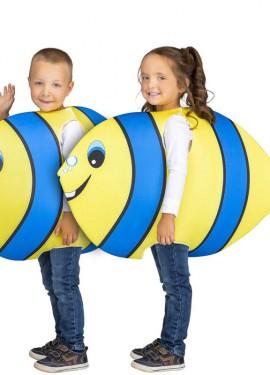 Disfraz de Pez Amarillo y Azul para niños