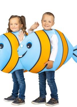 Disfraz de Pez Azul y Naranja para niños