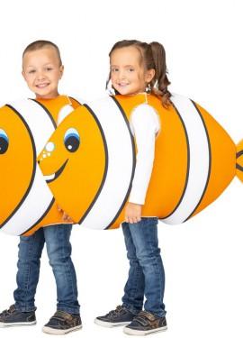 Disfraz de Pez Payaso Naranja y Blanco para niños