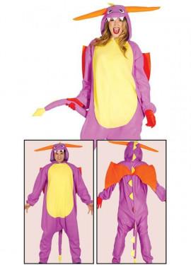 Disfraz de Pijama Dragón para adultos
