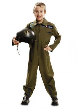 Disfraz de Piloto de Avión Top Gun para niño