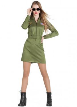 Disfraz de Piloto de Caza para mujer