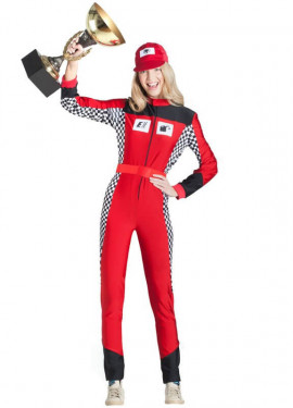 Disfraz de Piloto de Coches para mujer