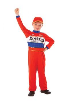 Déguisement de Pilote de Course Formule 1 pour Garçons de 6 à 8 ans