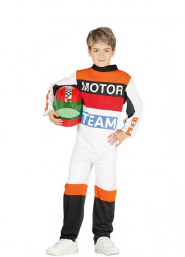 Disfraz de Piloto de Motociclismo para niño