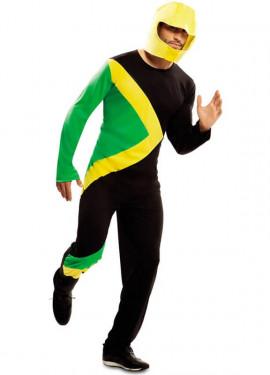 Déguisement de Pilote de Traîneau Bobsleigh Jamaïcain pour adulte