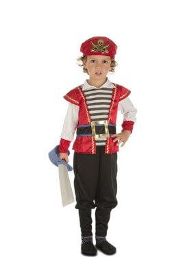 Disfraz de Pirata a Rayas para niño