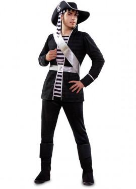 Disfraz de Pirata blanco y negro para hombre