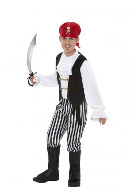 Déguisement Garçon Pirate Blanc et Noir enfants plusieurs tailles