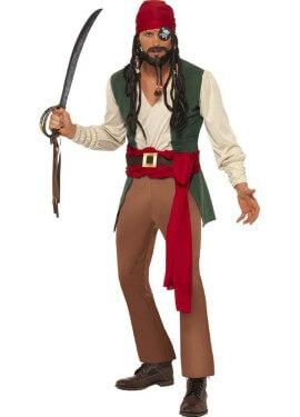 Disfraz de Pirata Borracho Caribeño