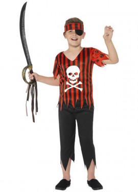 Disfraz de Pirata Calavera Alegre para niño