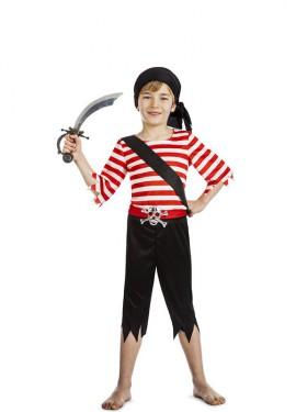 Disfraz de Pirata Calavera Plata para niño