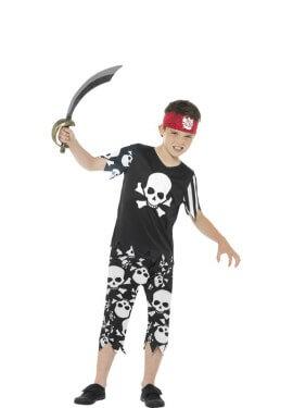 Disfraz de Pirata Calaveras para niño