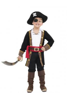 Disfraz de Pirata Casaca Negra para niño