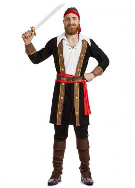 Disfraz de Pirata Casaca Negro para hombre