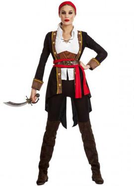 Disfraz de Pirata Casaca Negro para mujer