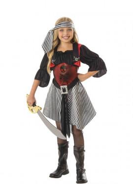 Disfraz de Pirata con Calaveras para niña