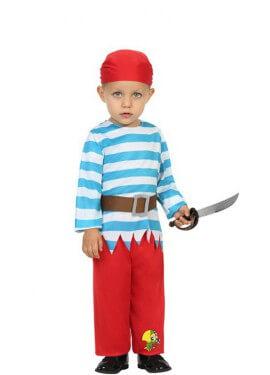 Disfraz de Pirata con Loro para bebé