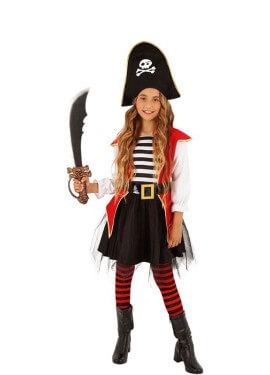 Costume da pirata con tutú per bambina