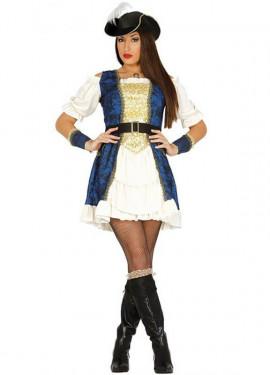 Costume da pirata per donna deluxe