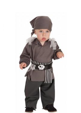 Disfraz de Pirata Esqueleto para bebé
