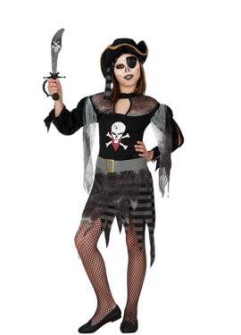 Déguisement de Fantôme Pirate pour fille plusieurs tailles