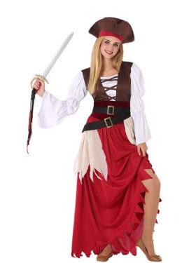 Disfraz de Pirata Granate para adolescente