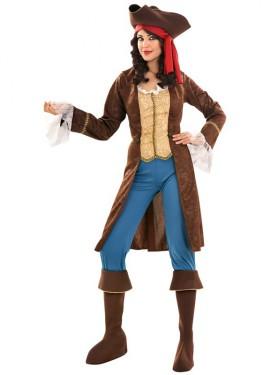 Disfraz de Pirata Lujo para mujer talla M-L