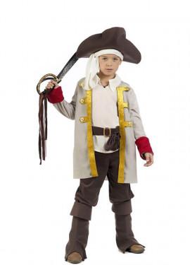 Disfraz de Pirata Marrón y Beige para niño