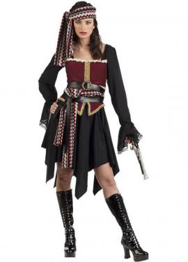 Disfraz de Pirata Negra para mujer