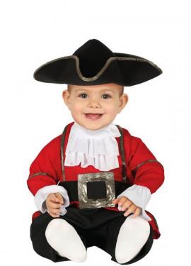 Costume da Pirata rosso per bebé