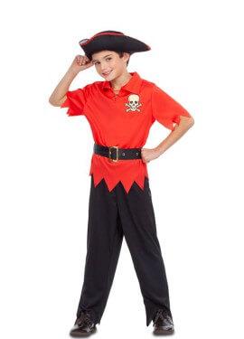 Déguisement de Pirate Rouge pour garçon