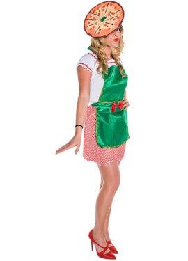 Disfraz de Pizzera para mujer