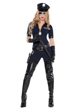 Disfraz de Policía de tráfico sexy para mujer