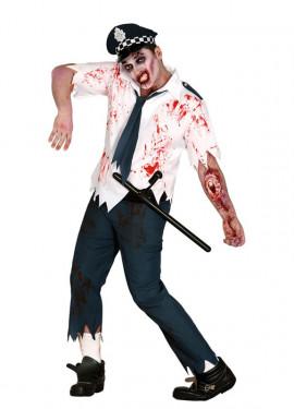 Déguisement Policier Zombie Ensanglanté pour hommes