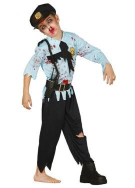 Disfraz de Policía Zombie