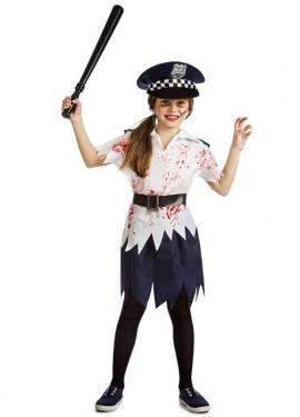 Disfraz de Policía Zombie para niña