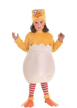 Disfraz de Pollito en el Cascarón para niños
