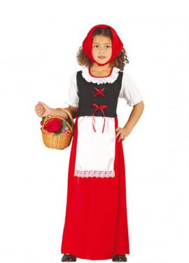 Disfraz de Posadera roja para niñas