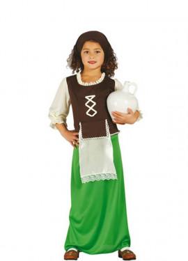 Disfraz de Posadera verde para niñas