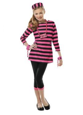 Disfraz de presa rosa para niñas y adolescentes