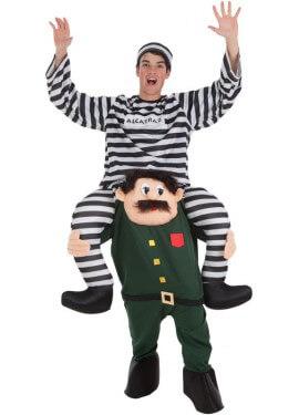 Déguisement de Prisonnier au muscle de Guardia civil pour adulte