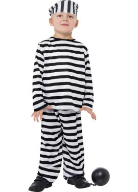 Disfraz de Preso a rayas para Niño